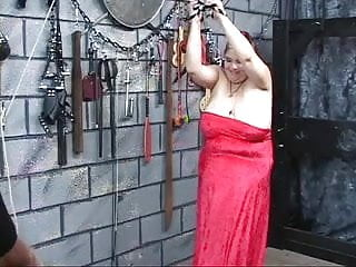 Milf caned tube Heavy titted fat bdsm brunette gets caned and whipped by master
