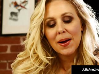 Mature juice Mega hot milf julia ann soaks her panties in pussy juice