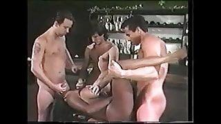 Domonique Simone with three guys