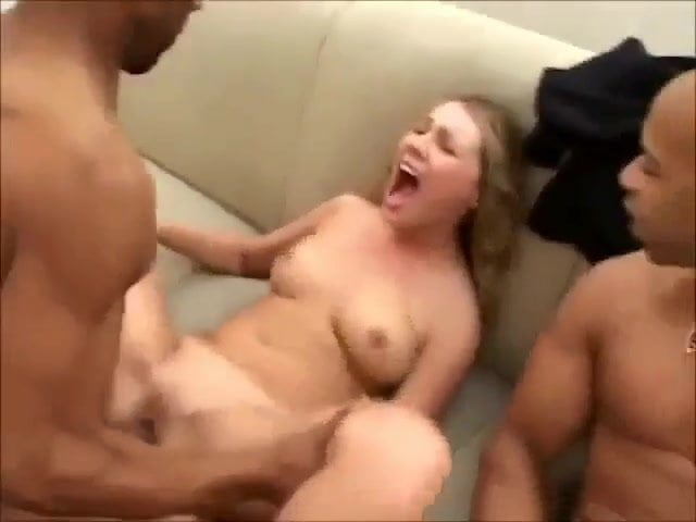 Blonde Wife Sucks Two Cocks