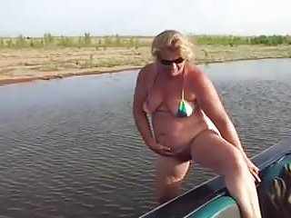 Things besides sex Mature pees beside boat