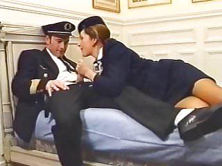 Stewardesses having stockings sex Classic french stewardess 2