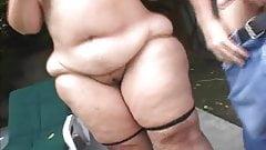 Hairy mature blond bbw anal fucked