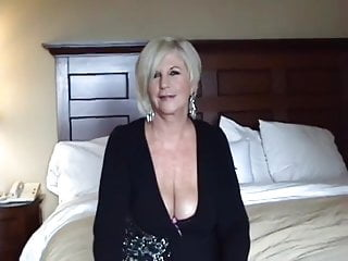 Breasts please - Blonde granny blowjob and breast relief