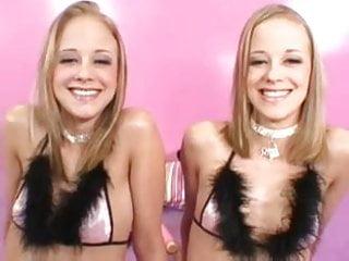 Twin pornstars Real hot blonde twins get threesome