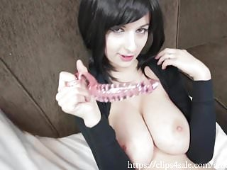 Guilt free masturbation Tentacle glass dildo free full-length clip by amedee vause