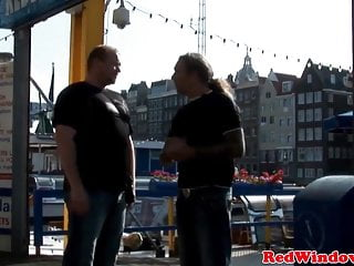Largest real cum load Real amsterdam prostitute swallows tourist load