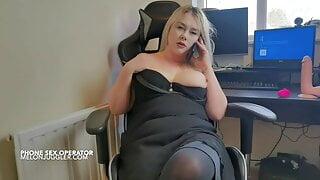 Busty Ivy Wild – hard nipples phone operator