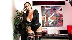 Emma Butt latex boobs and legs