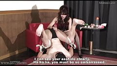 Japanese mistress Miyuki who inserts dildo into slave anal