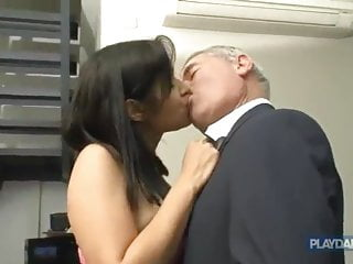 Young escort sex Gray-haired horny dad fucking a beautiful woman