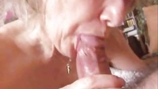 Homemade Big cumshot in mouth and swallow Part III