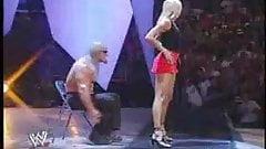 Long legged girl danses on erotica event
