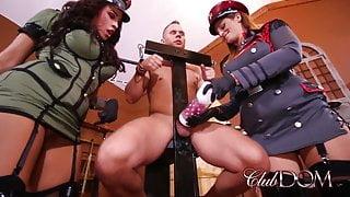 Jamie Valentine And Paris Milk Their Bound Slave