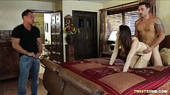 Chanel Preston wants two dicks, so arranges it with hubby