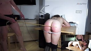 Clip 122SK-a Caned As Foreplay - 05:37min, $8