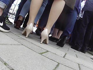 Gothic sluts in pantyhose and heels Lady in pantyhose and heels candid