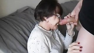 Dazzling Mature Slut Devouring A Young Cock