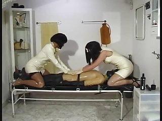 Latex paint off carpet Two slutty masked latex nurses jerk off helpless patient