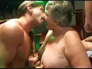Men enjoy sucking penis Two grannies enjoying men again