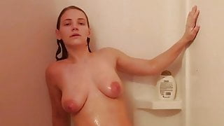 3 orgasms in the shower
