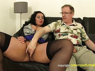 Cunt skirt Anatasia lux - thick thighs in skirt fucks old guy