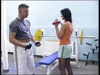 Teen girls and sex Two girls and two guys to suck and fuck at the gym