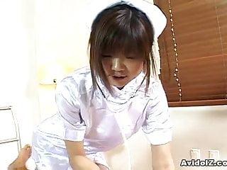 Hot mature nurse kinky handjob - Horny japanese nurse giving a hot handjob