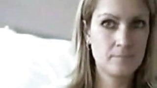 Blonde MILF Strips On Webcam