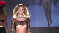Sexy Model with Big Boobs Wearing See Through Top (Nip Slip)