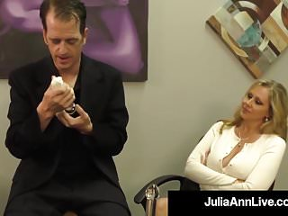 Adult tit xxx Adult award winner julia ann drains a cock with hot handjob