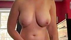 Great curvy wife rubbing pussy until she cums