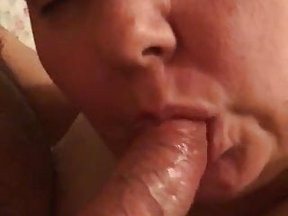 Forced him to deep throat me Gf sucking him off for me and herself