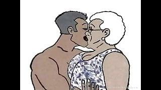 Black Granny loving anal! Animation cartoon!