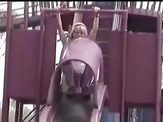 Free videos large pussy lips Hot blonde with large pussy lips upskirt peeing over a slide