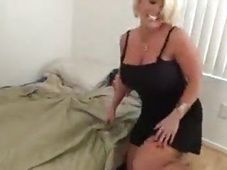 Boy hand job mom Alura huge boobs mom give son hand job