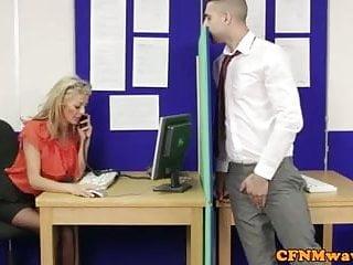 Femdom cfnm free pics - Femdom cfnm alyssa divine rough handjob affair at office