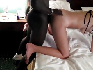 Hairy men sucking - Guy films his hairy girlfriend gets fucked by two black mens