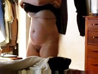 Hairy milfs undressing - 52yo ann undresses for bed - what would you do with her
