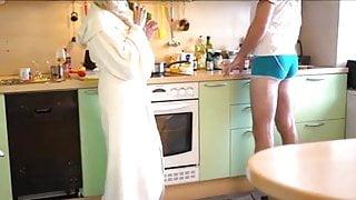 70+ Granny in Kitchen Part 1
