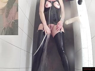Teaser milf - Enema ass cleaning latex shower teaser little sunshine milf