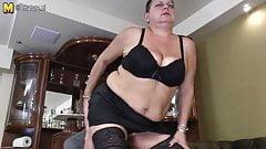 Big Grandma gets seduced by young stud