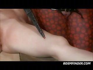 Electro dick Lezdom electro play and spanking
