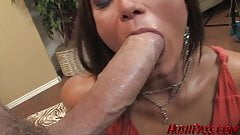 Big round booty girl Cece takes biggest white cock!