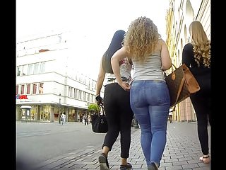 Tight asses beautiful - Incredible big ass beauty in tight jeans