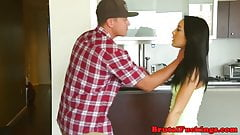 Nagging teen babe hardfucked by cable guy