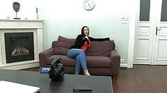 British slut Paige fucked on sofa