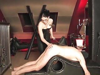 Bondage caned - Dominate mistress caning her bound slave
