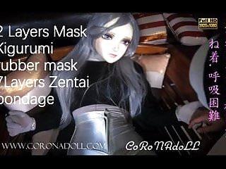 Head mask bondage - 7 layers and 2 layers mask bondage