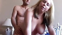 Busty blonde BBW beauty enjoys a sticky facial cumshot